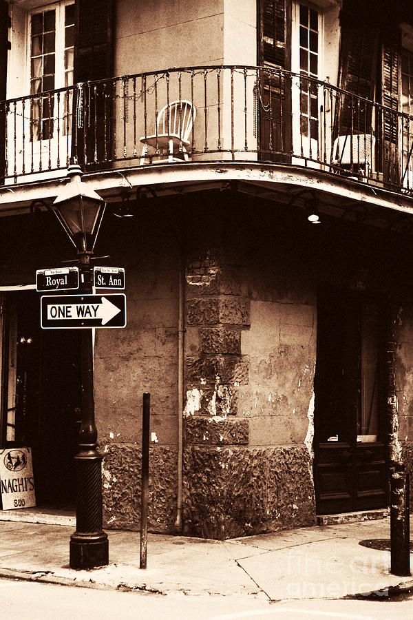 New Orleans Photograph - Vintage French Quarter by John Rizzuto