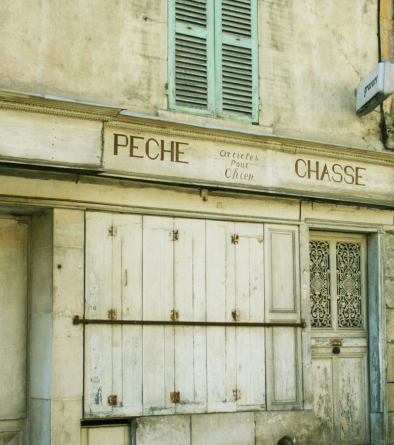French Town Photograph - Vintage French Shops Series No.1 by Georgia Fowler