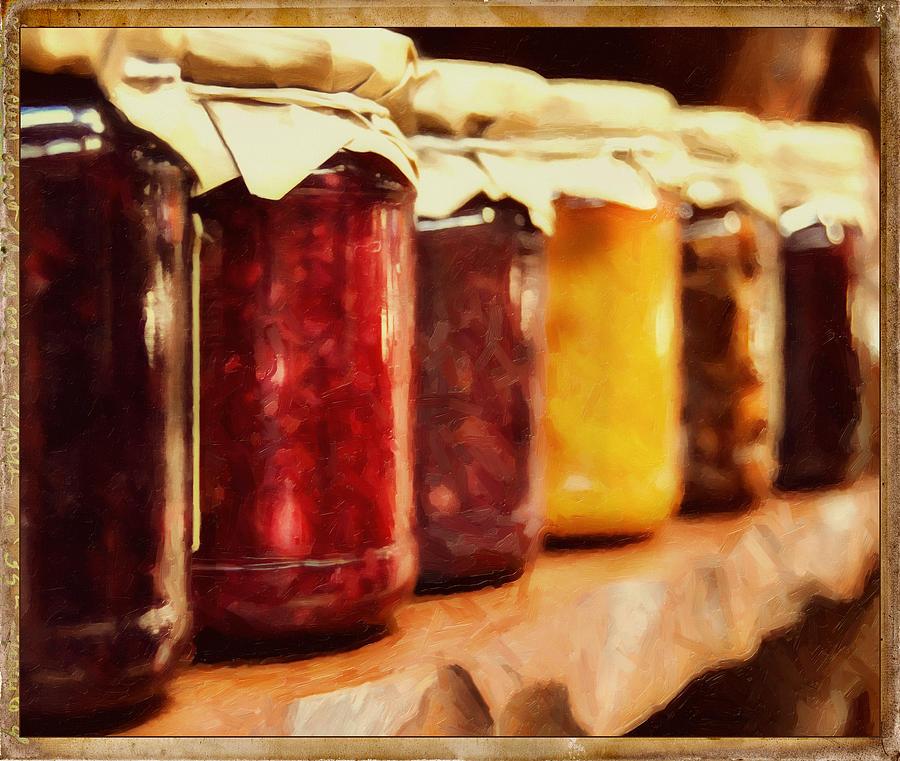 Vintage Fruit And Vegetable Preserves I Photograph