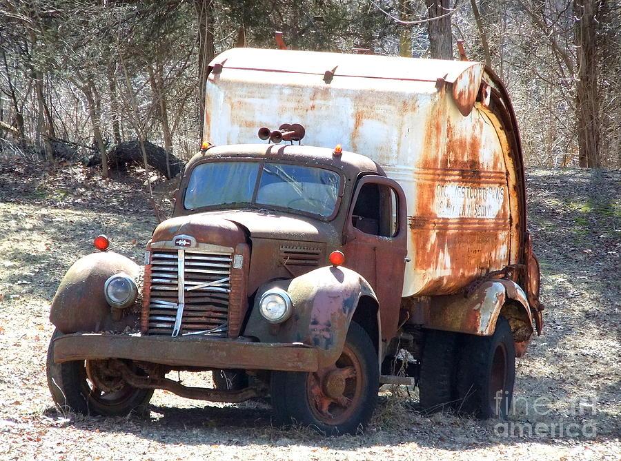 Vintage Garbage Truck Photograph by Terra Voeks