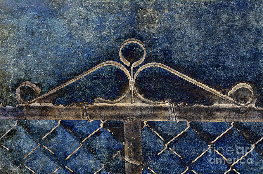 Gate Photograph - Vintage Gate - Fence - Chain Link - Texture - Abstract by Andee Design