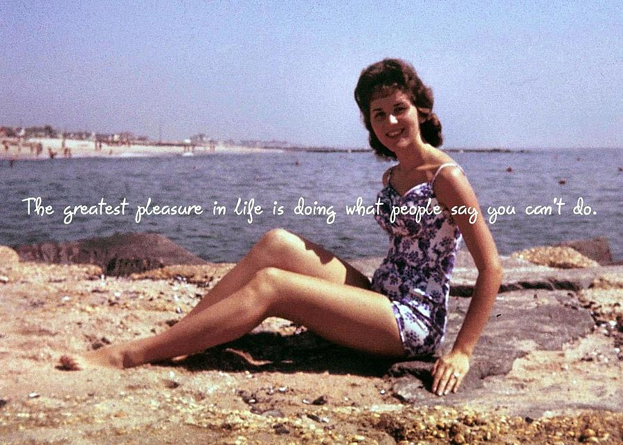 Vintage Photograph - Vintage Glamour Quote by JAMART Photography