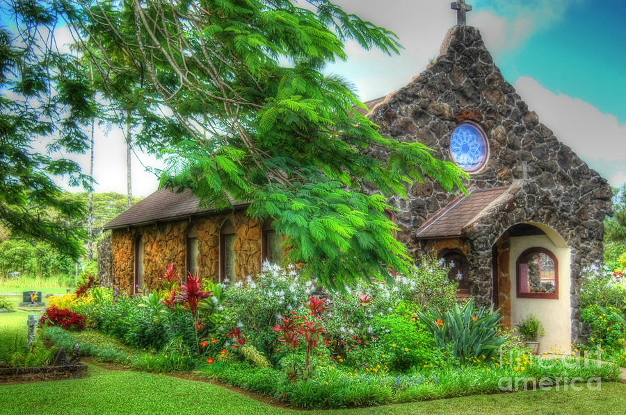 Vintage Hawaiian Church by Sarah Schroder