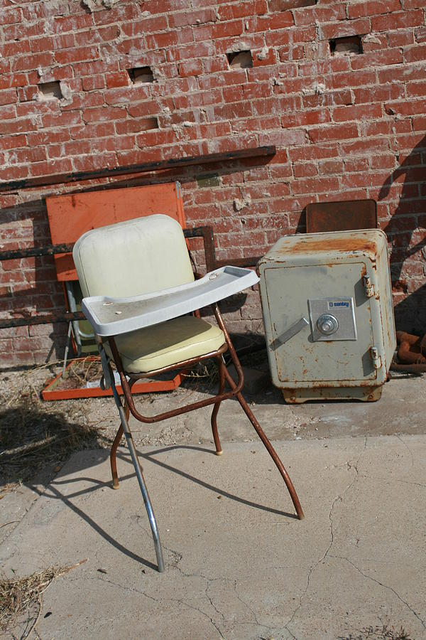 Vintage Photograph - Vintage Highchair by Paulette Maffucci