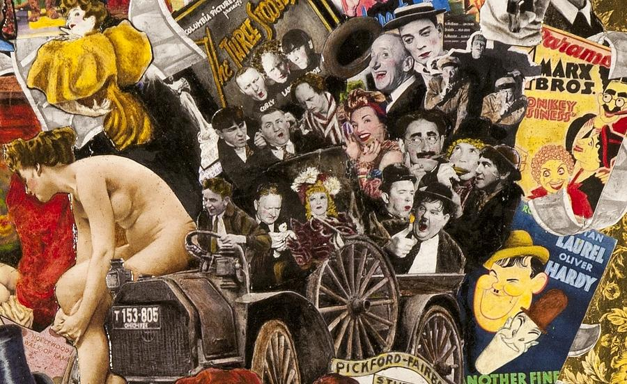 Laurel And Hardy Wc Fields Marx Bros Painting by Jonell Restivo – Laurel and Hardy Birthday Cards