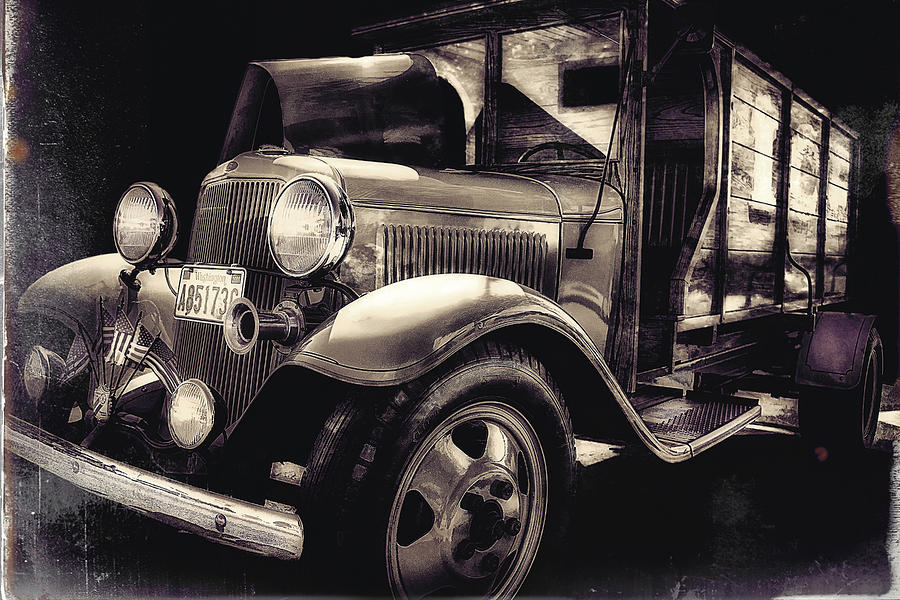 Vintage Photograph - Vintage Ice Truck by Ray Still