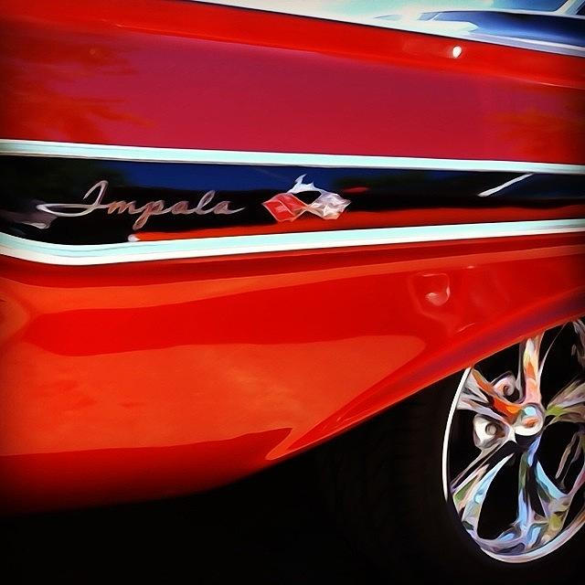 Classic Car Photograph - Vintage Impala by Heidi Hermes