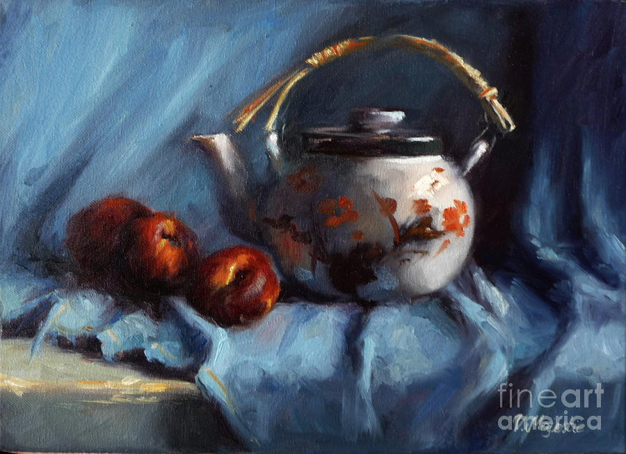 Japanese Painting - Vintage Japanese Tea Kettle by Viktoria K Majestic
