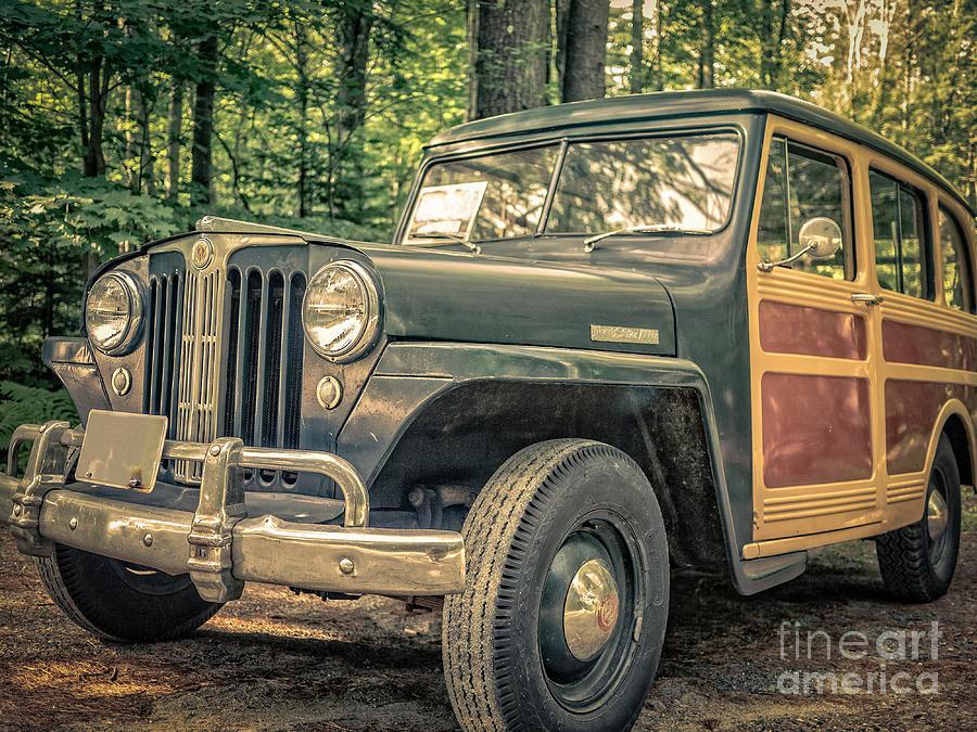 Jeep Photograph - Vintage Jeep Station Wagon by Edward Fielding