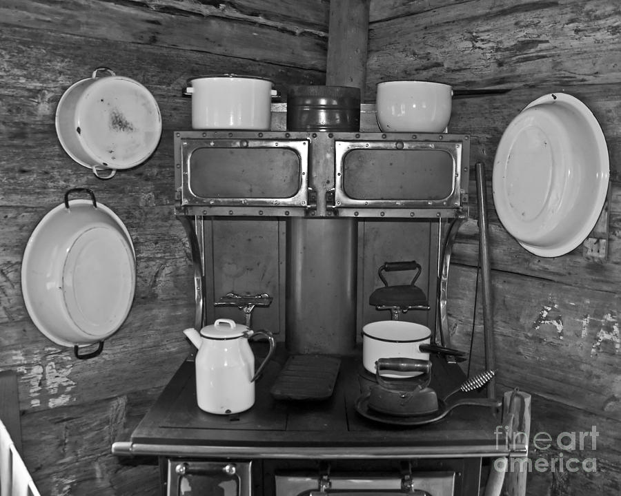 Homestead Photograph - Vintage Kitchen And Wood Stove by Valerie Garner