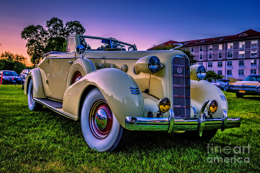 2014 Photograph - Vintage LaSalle Convertible by Edward Fielding