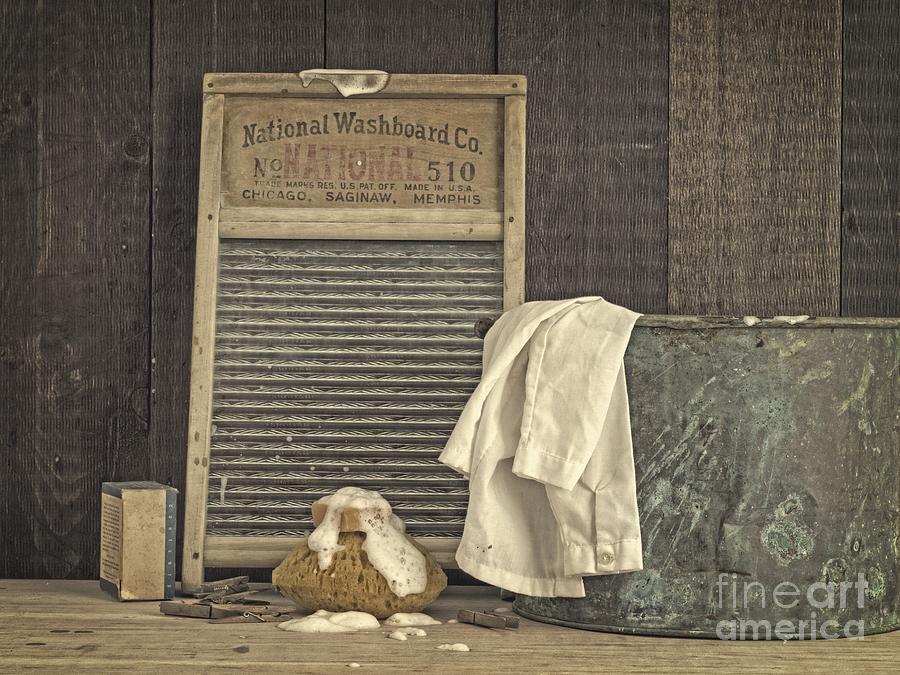 Laundry Photograph - Vintage Laundry Room II By Edward M Fielding by Edward Fielding