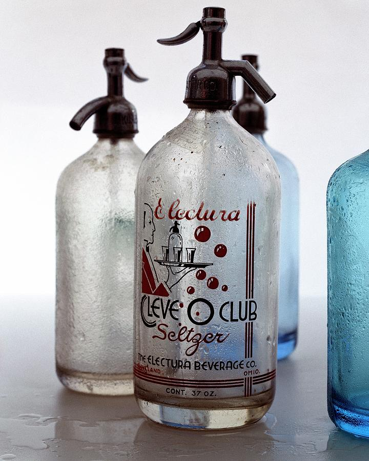 Vintage Leve-o-club Seltzer Bottles Photograph by Romulo Yanes