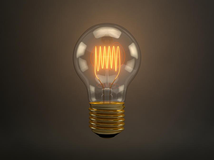 Vintage Light Bulb Digital Art by Scott Norris
