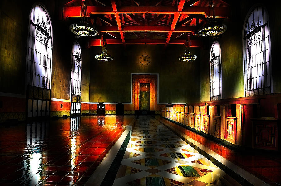 Train Station Digital Art - Vintage Light by Cary Shapiro