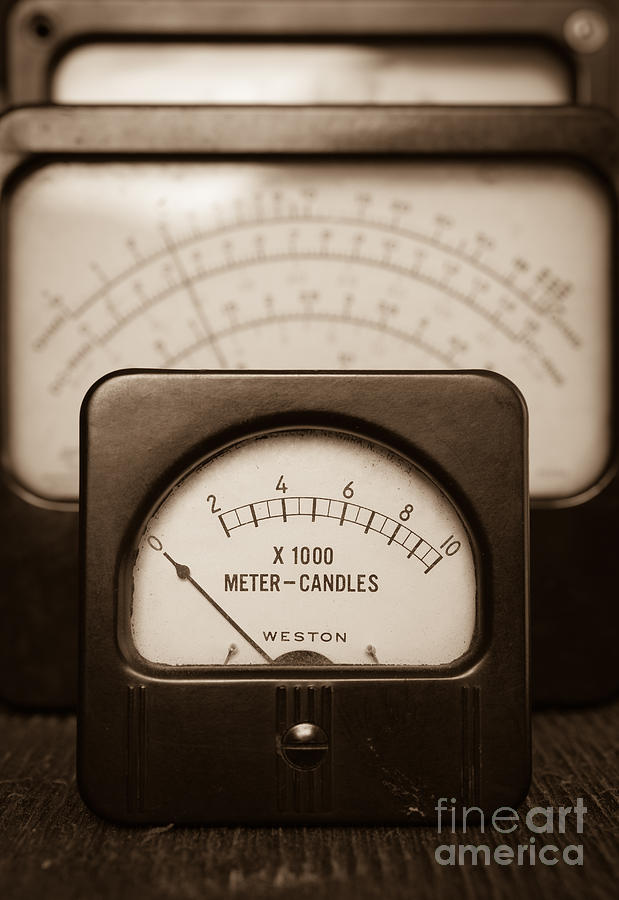 Radio Photograph - Vintage Light Meter by Edward Fielding