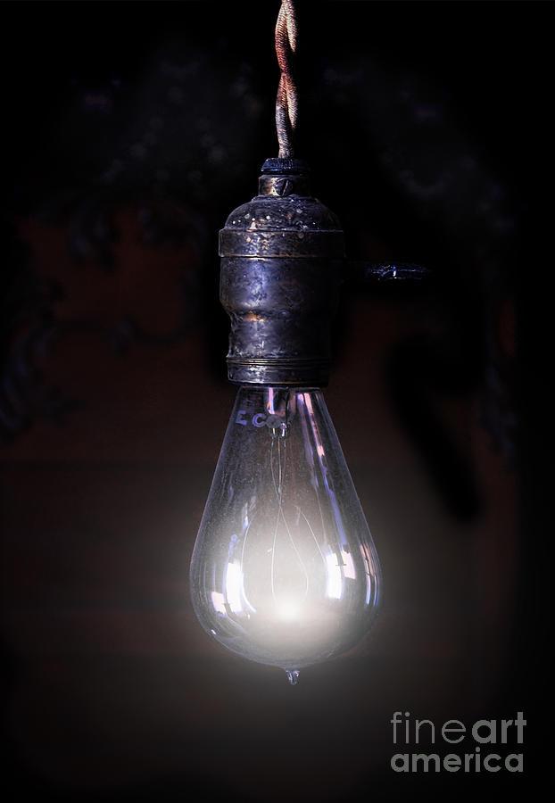 Light Photograph - Vintage Lightbulb by Jill Battaglia