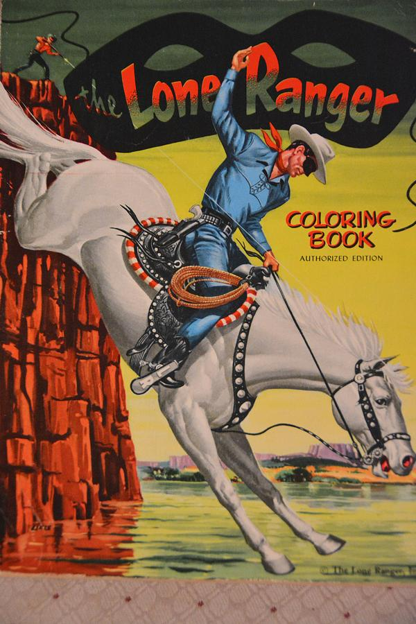 old photograph vintage lone ranger coloring book by richard jenkins - Vintage Coloring Books