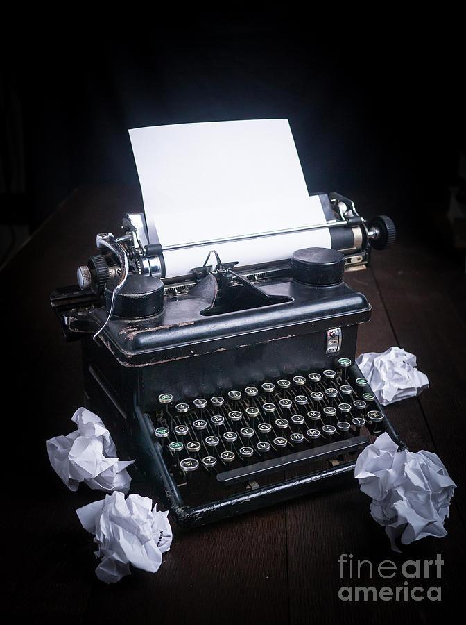 Typewriter Photograph - Vintage Manual Typewriter by Edward Fielding