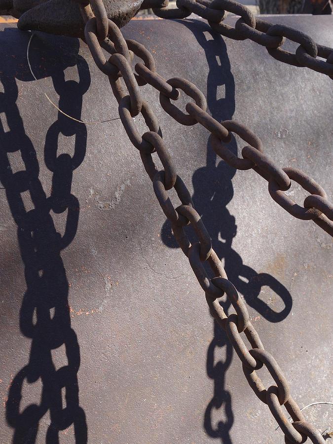 Chain Photograph - Vintage Metal Chains by Ann Powell