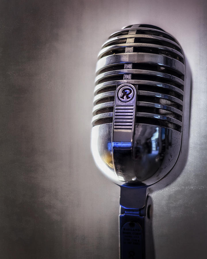 Mic Photograph - Vintage Microphone 2 by Scott Norris