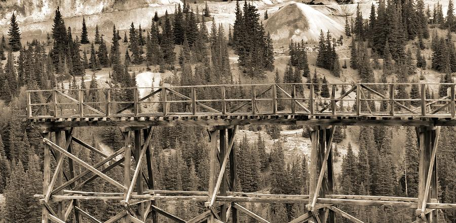 Vintage Mining Trestle Photograph by Dan Sproul