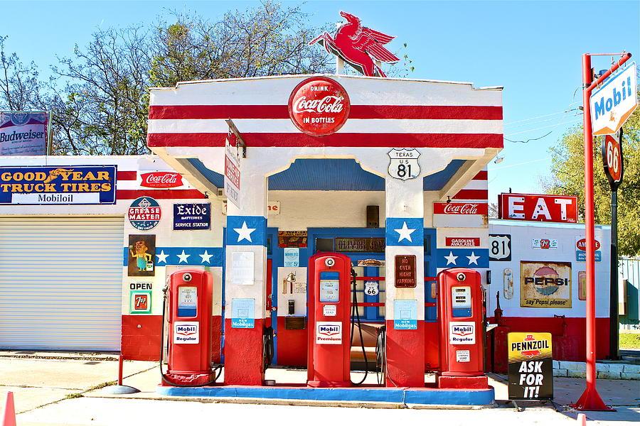 Mobil Gas Card >> Vintage Mobil Gas Station Photograph by John Babis