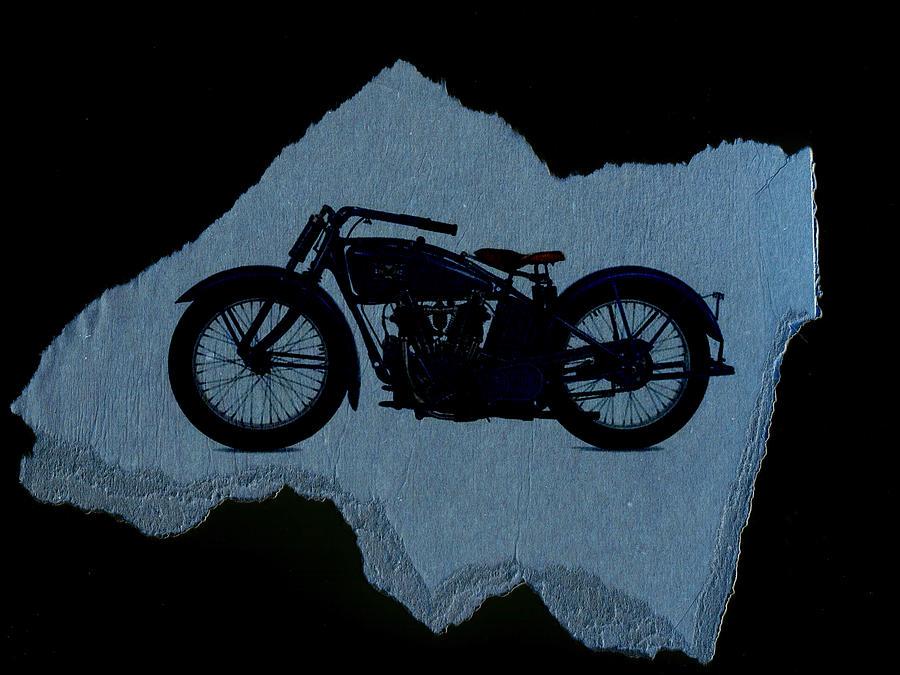Motorcycle Digital Art - Vintage Motorcycle by David Ridley