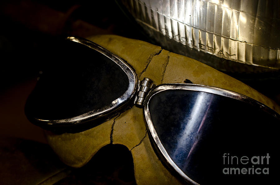 Motorcycles Photograph - Vintage Motorcycle Goggles by Wilma  Birdwell