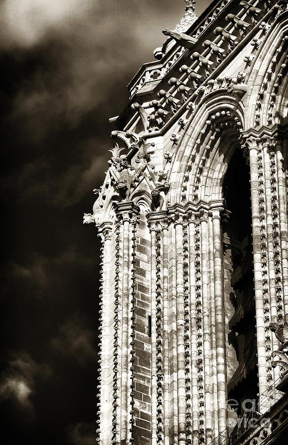 Vintage Notre Dame Details Photograph - Vintage Notre Dame Details by John Rizzuto