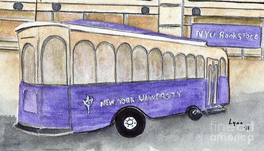 Vintage NYU Trolley by AFineLyne