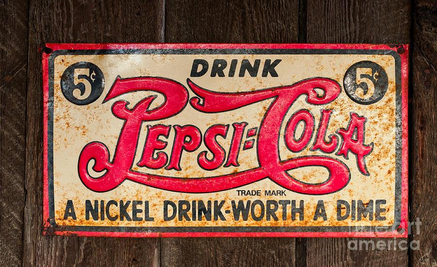 Vintage Pepsi Cola Ad Photograph By Les Palenik