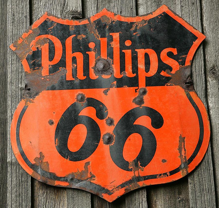 Vintage Phillips 66 Metal Sign Digital Art by Marvin Blaine