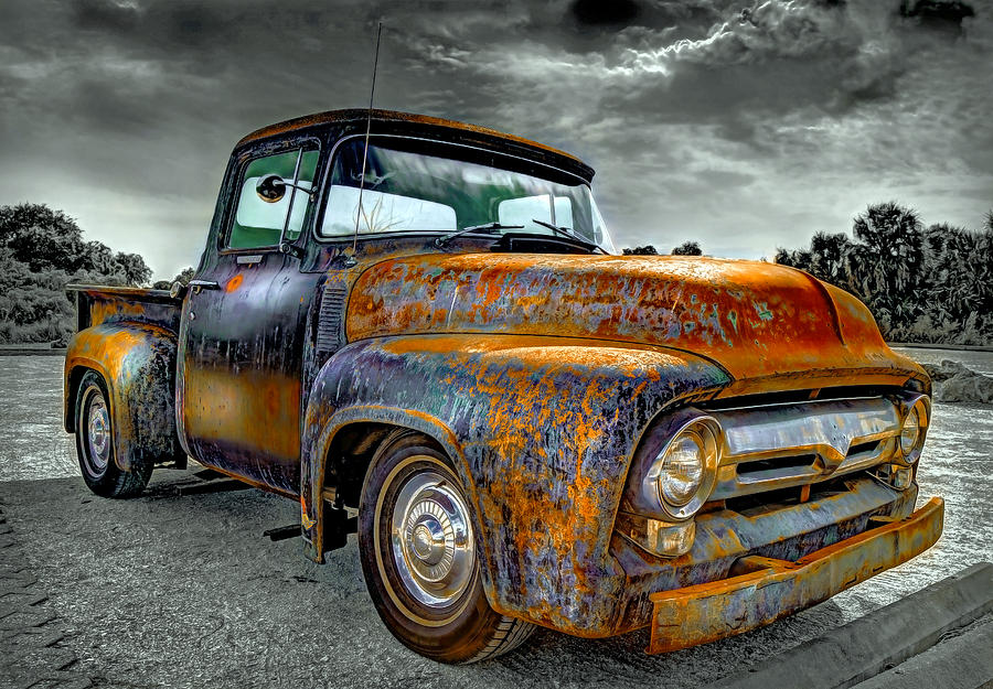 Vintage Pickup Truck Photograph by Mal Bray