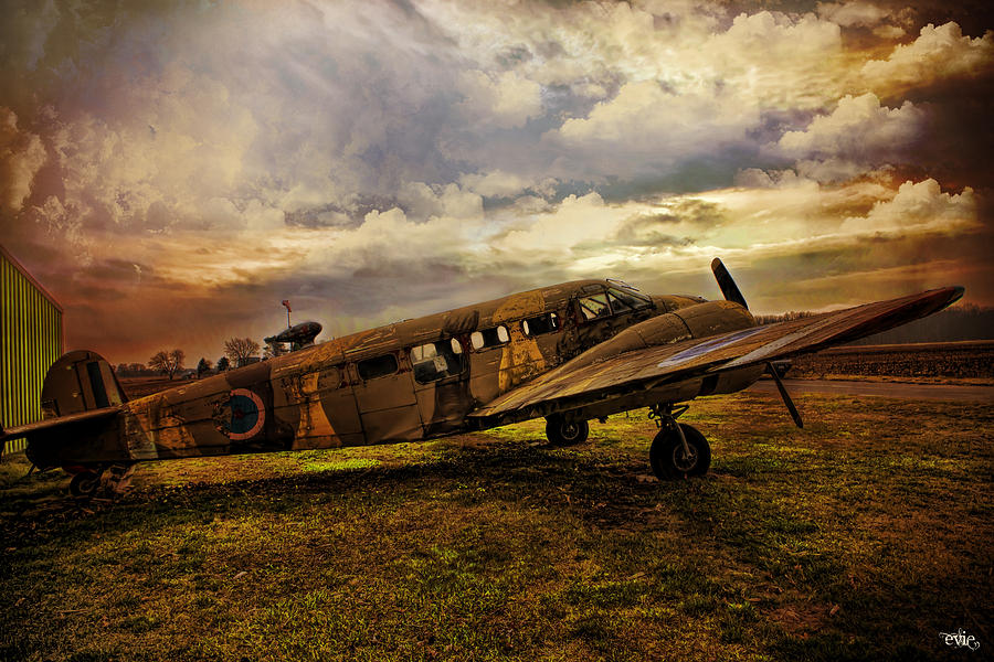 Aeroplane Photograph - Vintage Plane by Evie Carrier