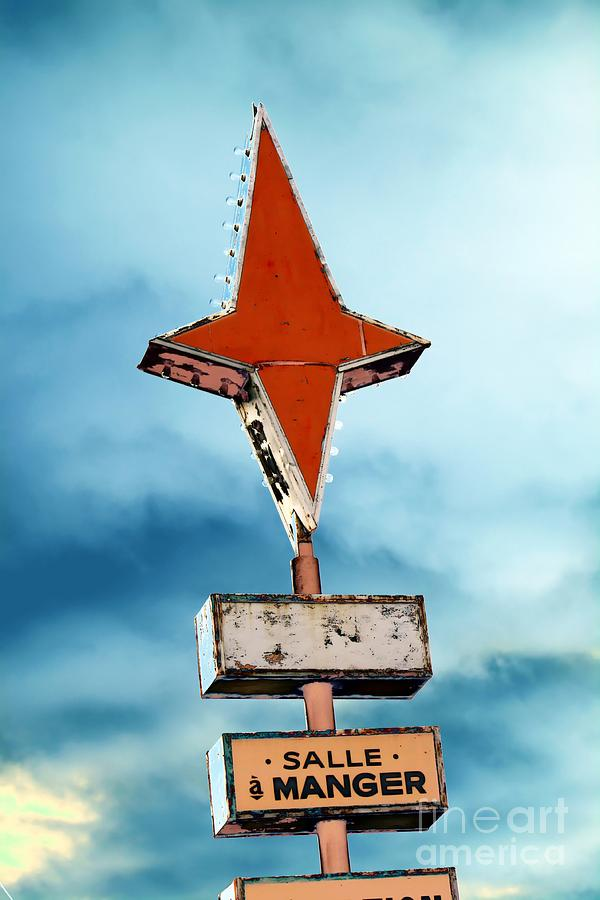 Sign Photograph - Vintage Pop Art Sign by Sophie Vigneault