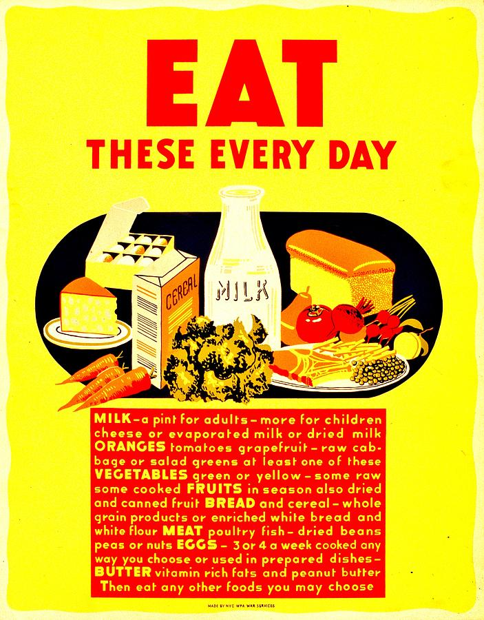 vintage poster nutrition photograph by benjamin yeager