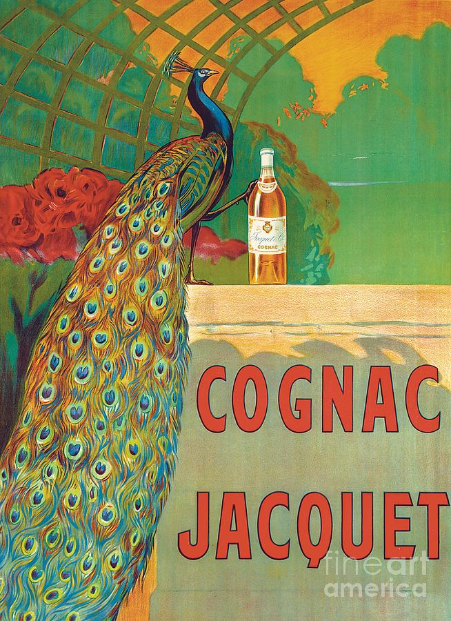 Bird Painting - Vintage Poster Advertising Cognac by Camille Bouchet