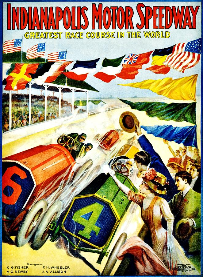 Vintage Photograph - Vintage Poster - Sports - Indy 500 by Benjamin Yeager