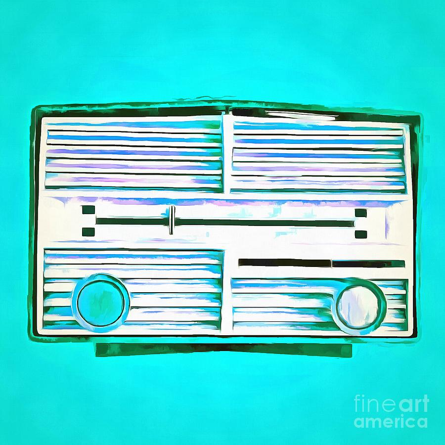 Vintage Radio Pop Art Photograph