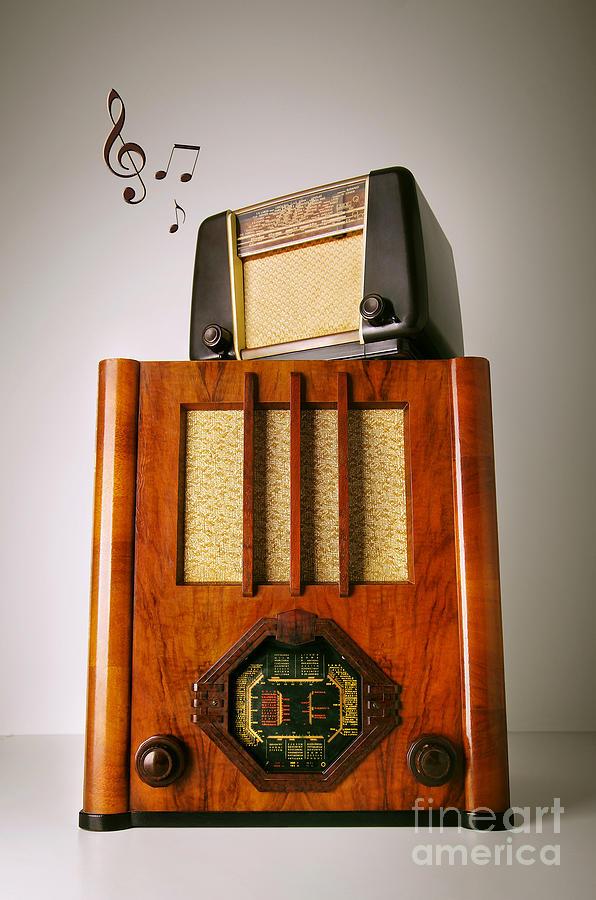 Analog Photograph - Vintage Radios by Carlos Caetano