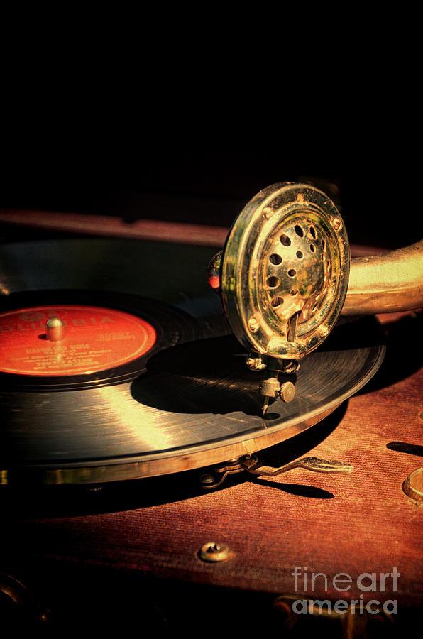 Vintage Photograph - Vintage Record Player by Jill Battaglia