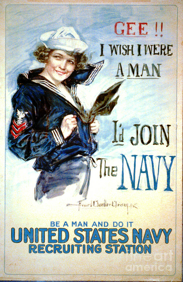 Wwi Photograph - Vintage Recruiting Poster 1917 by Padre Art