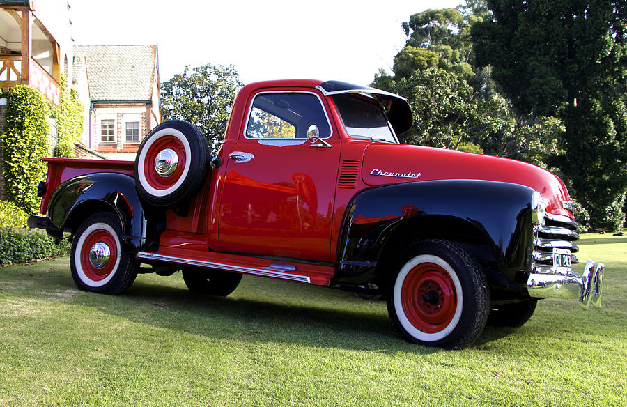 1940 Chevy Truck >> Vintage Red Chevy Pick Up Truck by Venetia Featherstone-Witty