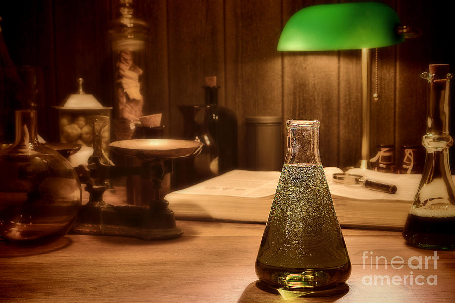 Laboratory Photograph - Vintage Science Laboratory by Olivier Le Queinec