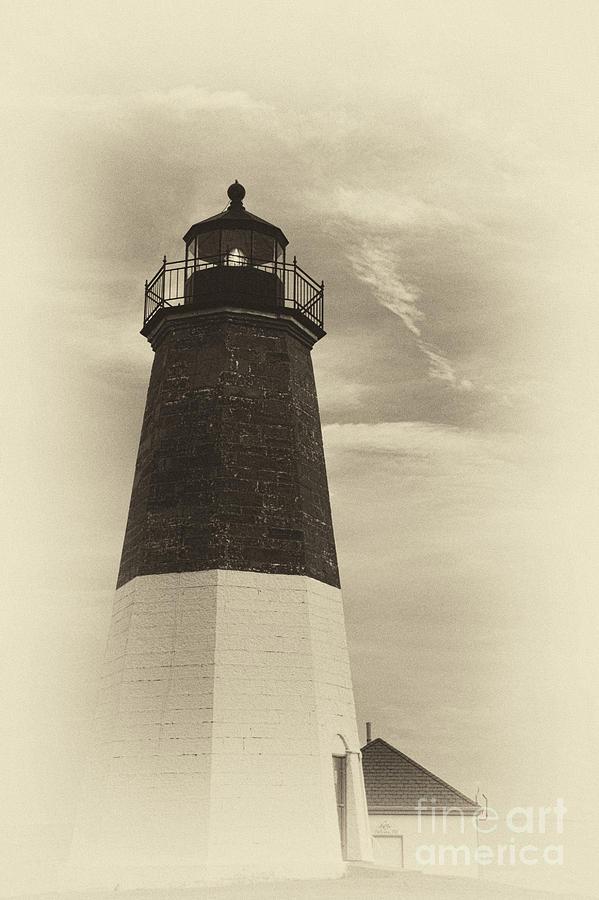 Point Judith Photograph - Vintage Sentinel by Nancy De Flon