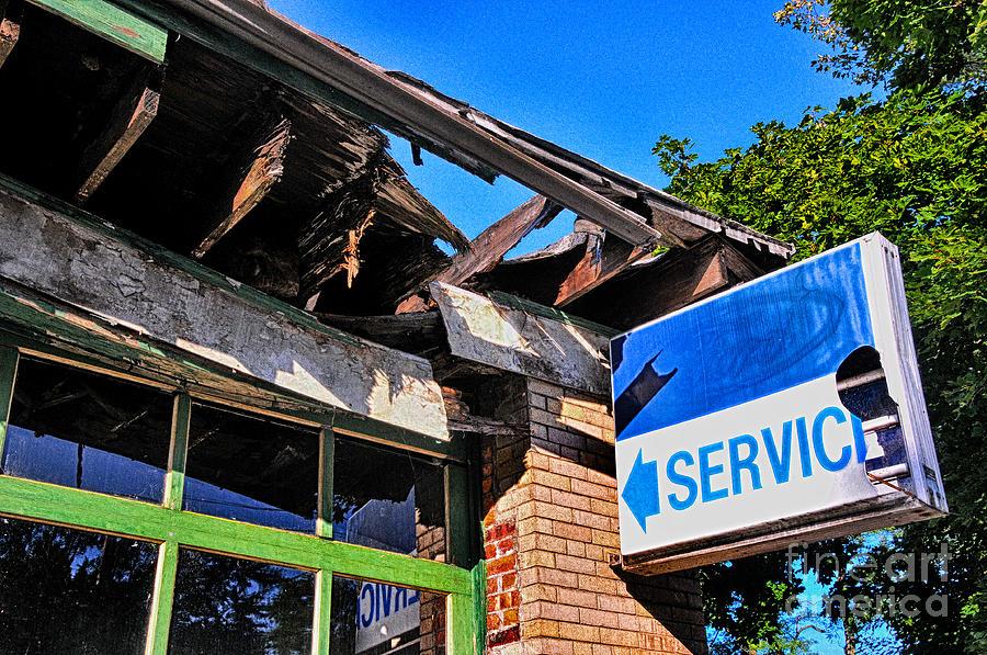 Vintage Service Station by Bob Stone