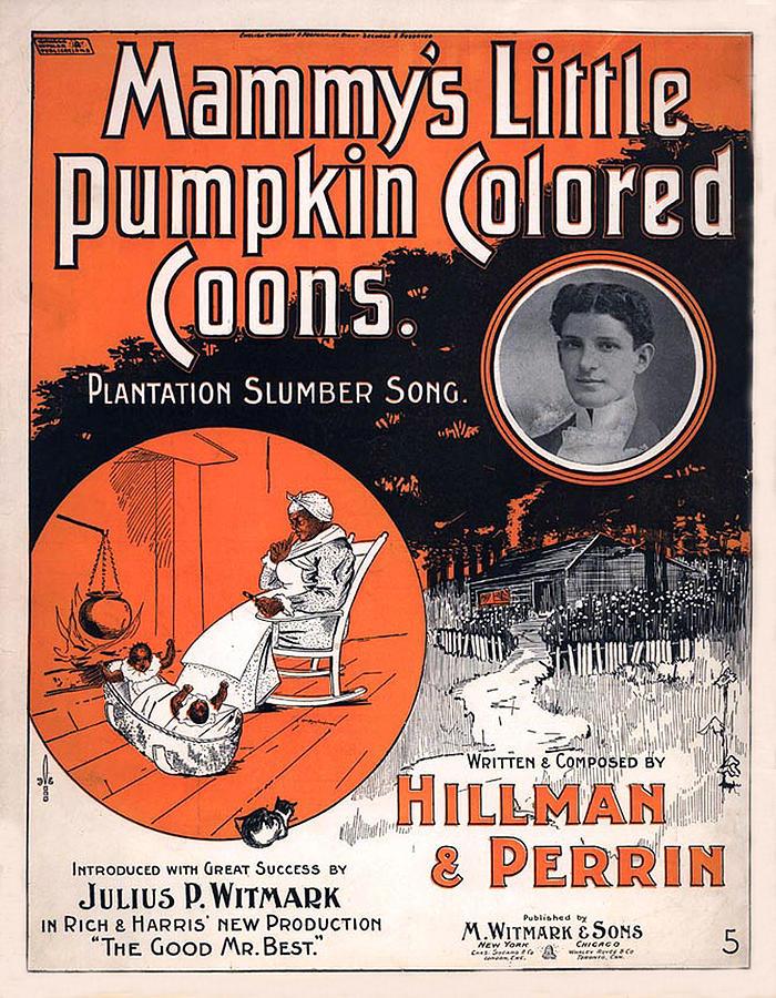Vintage Sheet Music Cover Circa 1896