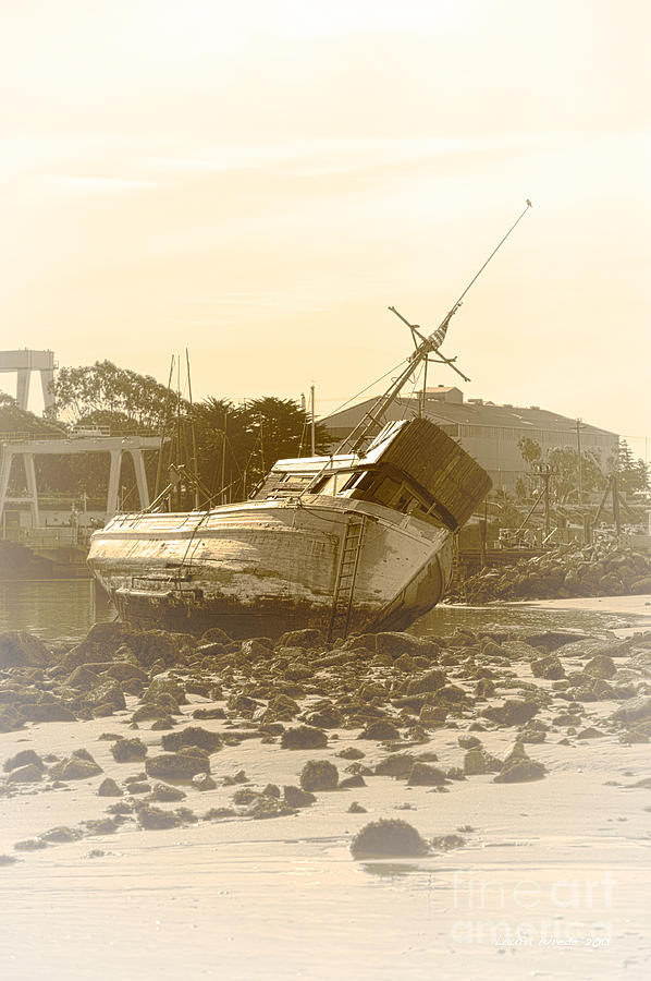 Shipwreck Photograph - Vintage Shipwreck  by Artist and Photographer Laura Wrede