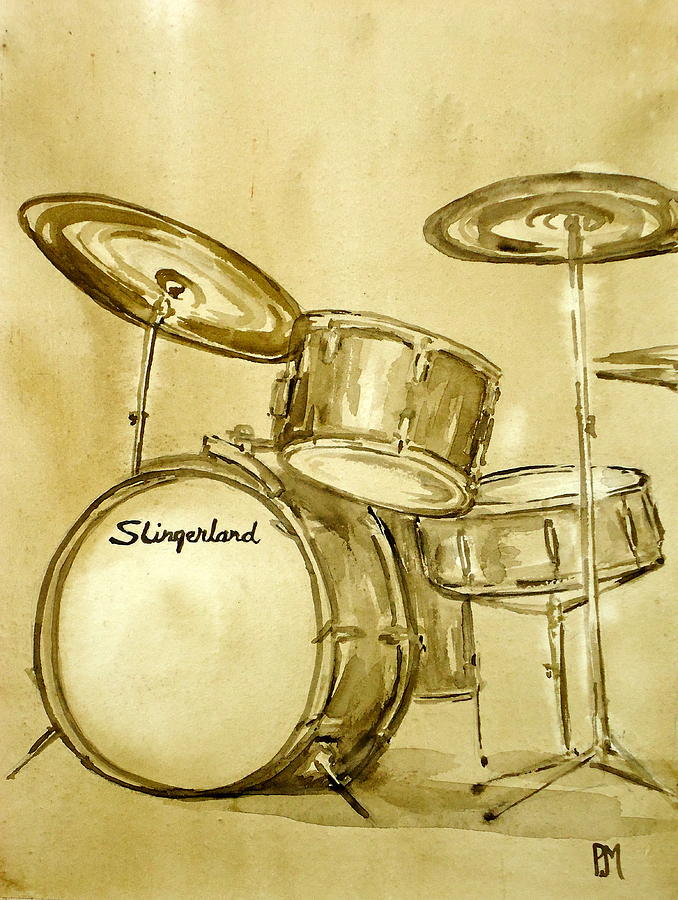 Drums Painting - Vintage Slingers by Pete Maier